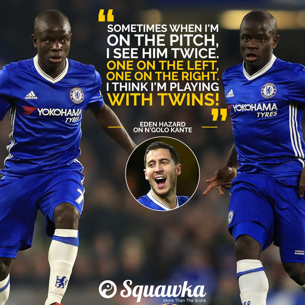 Eden Hazard N Golo Kante is Everywhere and Must Play With a Twin