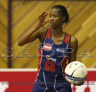21092013. Port Elizabeth, South Africa, 21 September 2013 : Zanele Vimbela of NMMU during the Varsity Netball  match between NMMU vs UJ © Michael Sheehan / SASPA