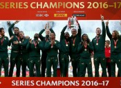 South Africa's Blitzboks Reacts to the HSBC World Rugby Sevens Series Championship Win