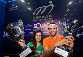 Egyptians Nour El Sherbini and Mohamed ElShorbagy Won the Hong Kong Open Titles